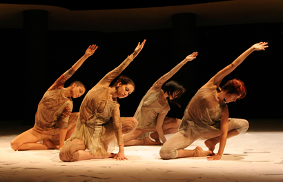 Photo from a show choreographed by Clébio Oliveira